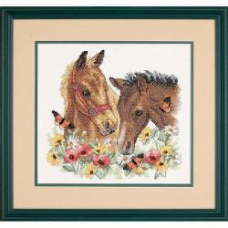 Dimensions Stamped Cross Stitch: Horse Friends